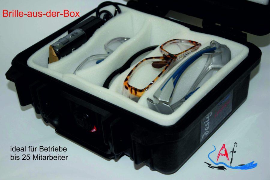 Brille-aus-der-Box ist ideal für Betriebe mit bis zu 25 Mitarbeitern, die eine optische Arbeitsschutzbrille benötigen